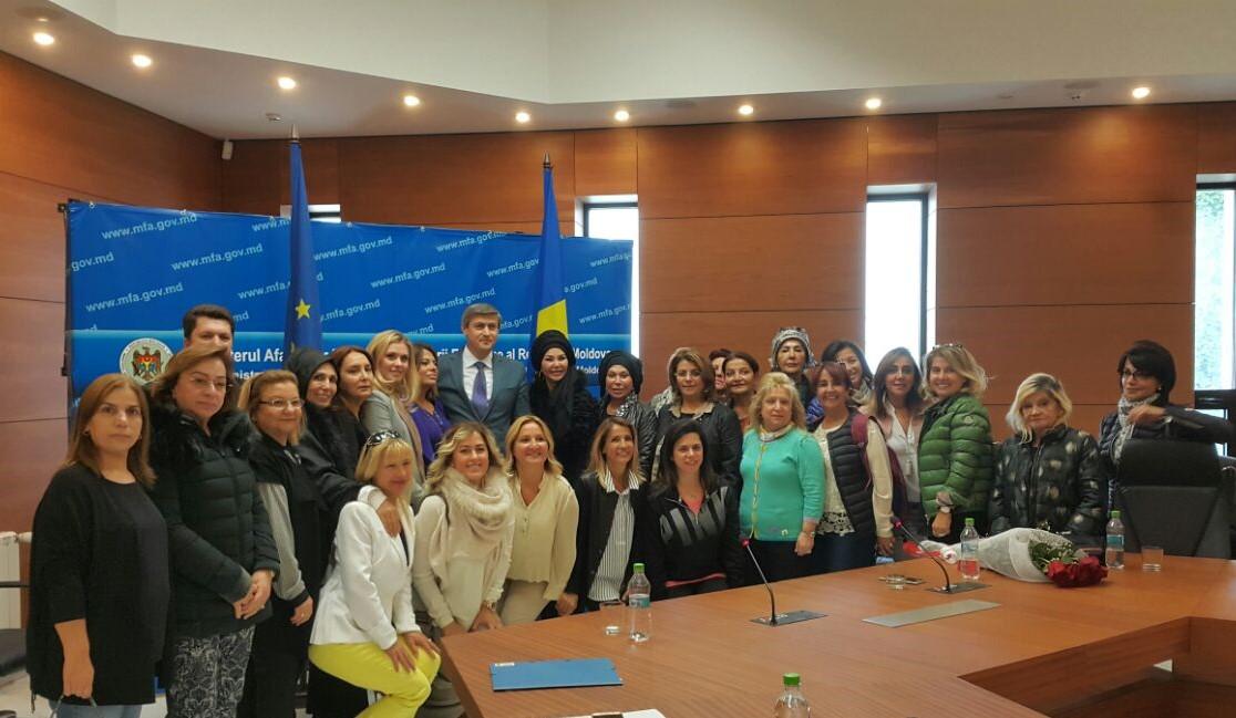 Türk İş kadınların Moldova Cumhuriyeti'ndeki ziyareti